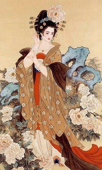 国画风描绘九大倾国美女 - 空谷幽兰 - 空谷幽兰的博客