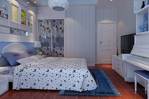 现代简约儿童卧室装修效果图大全2 设计师通过对欧式风格元素的高度