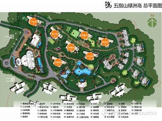 华南植被手绘平面图