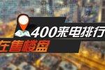 """""""400来电量一周排名TOP10 学区热点项目夺冠"""