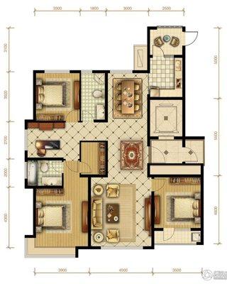 A1户型169�O 3室2厅1卫