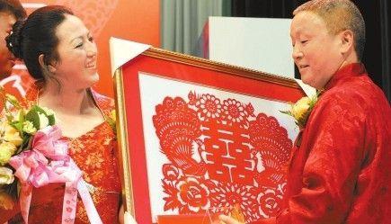 汶川大地震后首场震区重组家庭跨省(市)集体婚礼昨在京举行