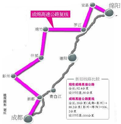 成绵高速复线建设用地正式获批 2011年通车