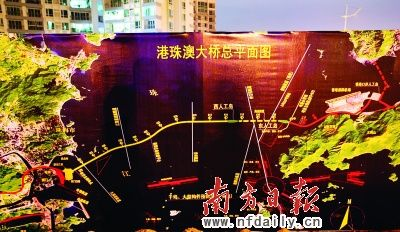 港珠澳大桥总平面图.南方日报记者吴伟洪摄-港珠澳大桥今动工 香港