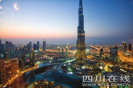 世界第一高楼迪拜塔竣工 楼高或达823米(图)