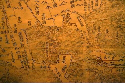 400教材利玛窦绘制古地图:中国为世界中心图书籍年前v教材图片