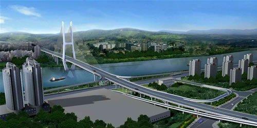 国庆节 立交桥 宜宾市