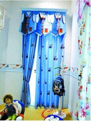 芭布啦儿童窗帘,帘头特别有趣
