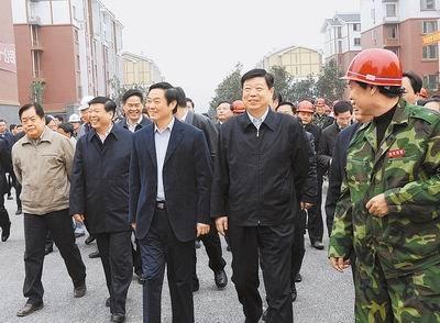 山东政党代表考察北川援建项目 省领导陪同