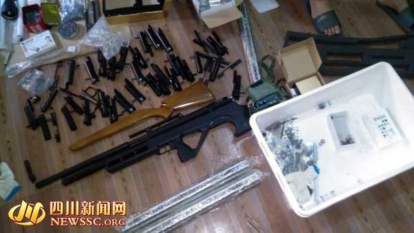 宜宾摩托车修理工造枪网售 被当场搜出自制突击枪(图)