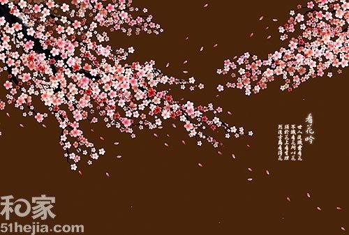 组图:5款韩式壁纸 打造诗情画意整体背景墙图片