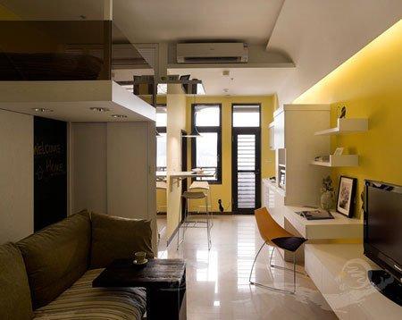 再小也要有情调 复式装修36平米的单身公寓