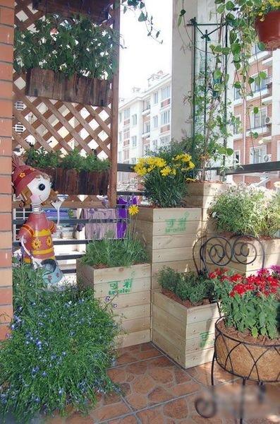 阳台植物设计手绘图