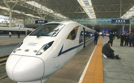 29日起成都至西安每天33趟高铁动车 最快3小时25分钟
