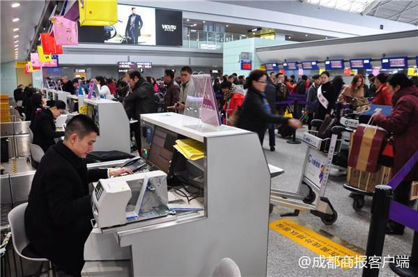 成都机场春运落下帷幕 航班架次旅客出港人数创新高