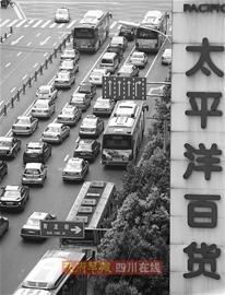 成都道路改造施工 人民中路和川陕路成最堵点