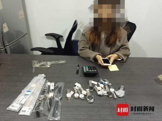 女子腰部藏匿20只手表通关 被成都海关查获