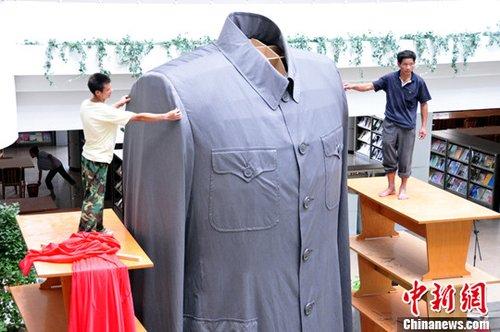 纪念辛亥百年超大型中山装亮相宁波浙江(2)大力钳图纸图片