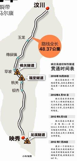 映汶高速10月通车 全长48.37公里造价近50亿元