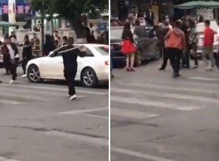 网传成都街头持棍打人视频 涉案9人已被抓获