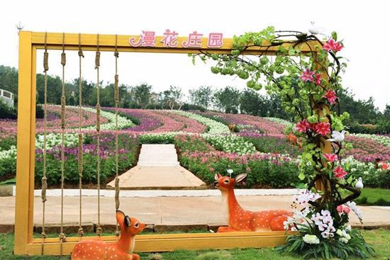 漫花庄园的百合花都开好了 万人画出新景点