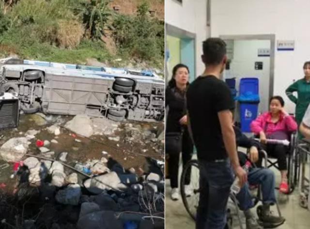 自贡旅游大巴在凉山坠河 肇事嫌疑人被控制