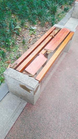 观察:成都市区便民座椅损坏 主要系人为