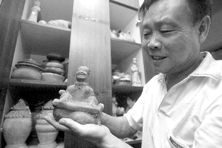唐诗杰和他收藏的汉陶