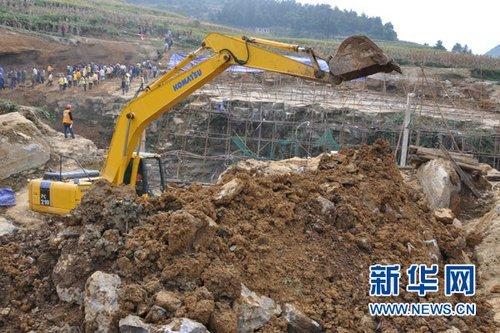 川黔铁路因塌方阻断21小时后顺利抢通(图)