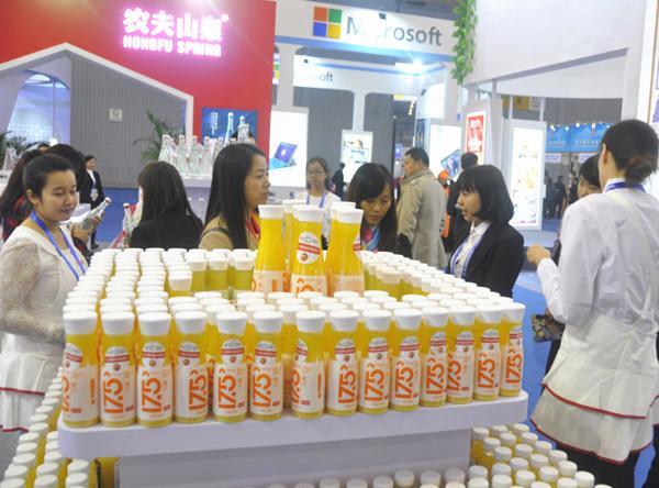 G20峰会指定用水玻璃瓶农夫山泉亮相西博会
