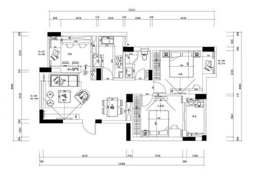80后小房奴 3万打造89平超赞实用三室两厅