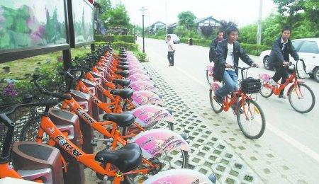 成都金牛区10公共自行车租赁点本周开建(图)