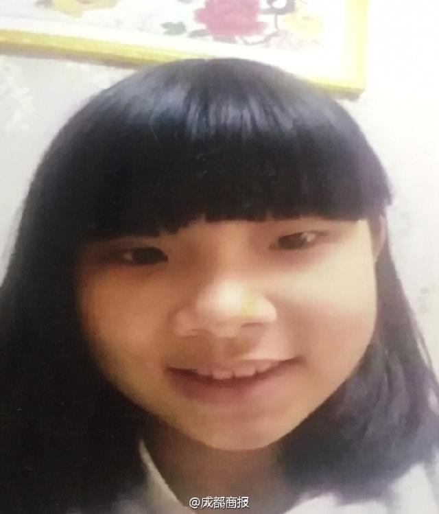川广安13岁女孩走失 身高160厘米中等体型(图
