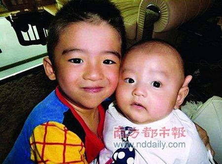 张柏芝二公子中文名谢振南 网友笑称似黑社会