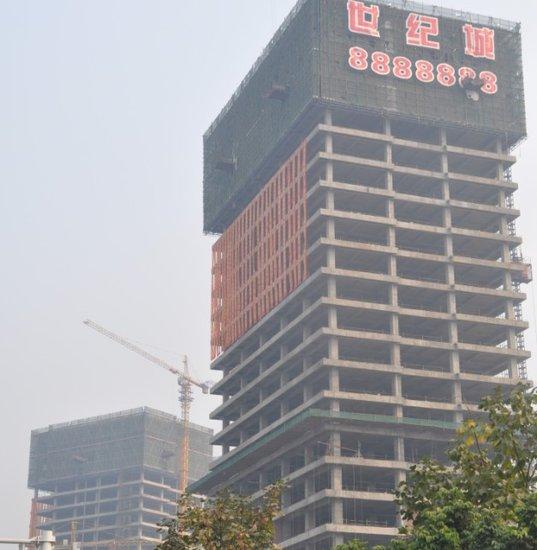中国.泸州佳乐世纪城金融商业街预计月底封顶 高清图片