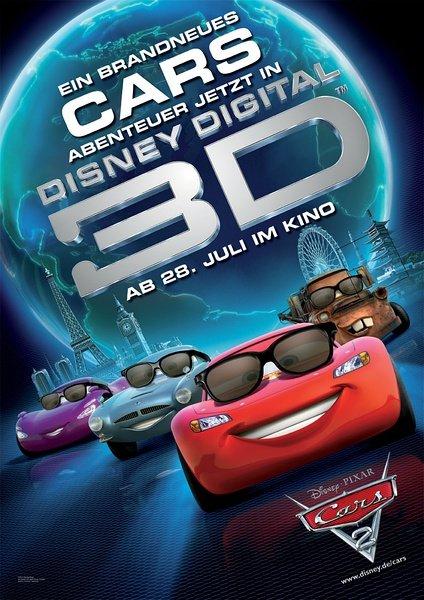 DMAX巨幕3D《赛车总动员2》仅需25!
