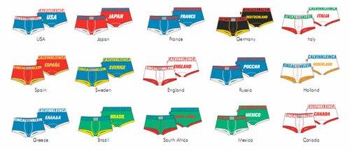 ck情趣推出女人世界杯系列限量纪念版内裤_时内衣三点全新图片