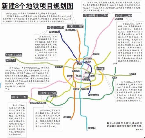 2020年前成都地铁蓝图公布 城区将建成9条