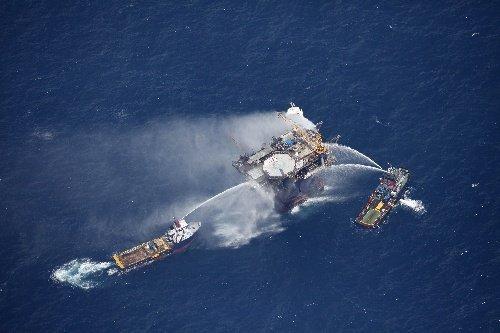 墨西哥湾再有石油平台爆炸 现场发现浮油