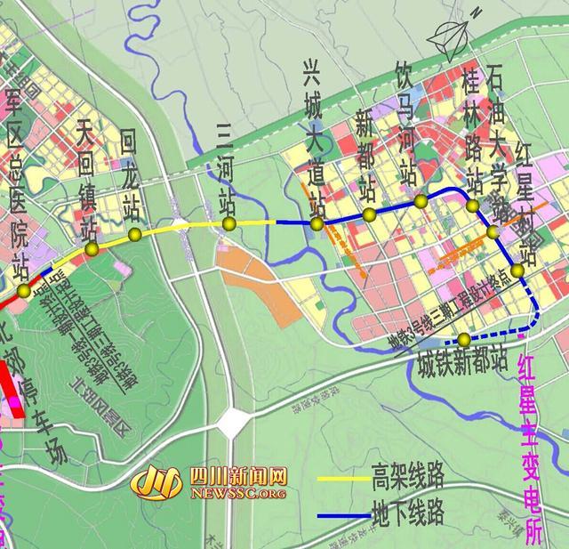 成都地铁3号线延线年底开建 南通双流北接新都