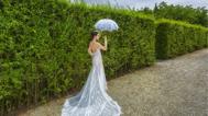 法式庄园里拍花期婚照