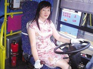 女司机穿旗袍开公交车 6种款式换着穿(图)
