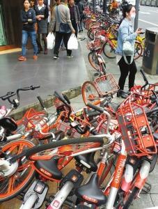 成都限制新投放共享单车 企业须限期清理破损单车