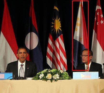 奥巴马主持东盟峰会 菲律宾国旗被倒挂(图)