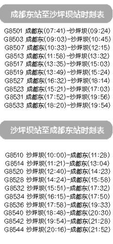 重庆沙坪坝站25日或投运 每天开行10对成渝高铁