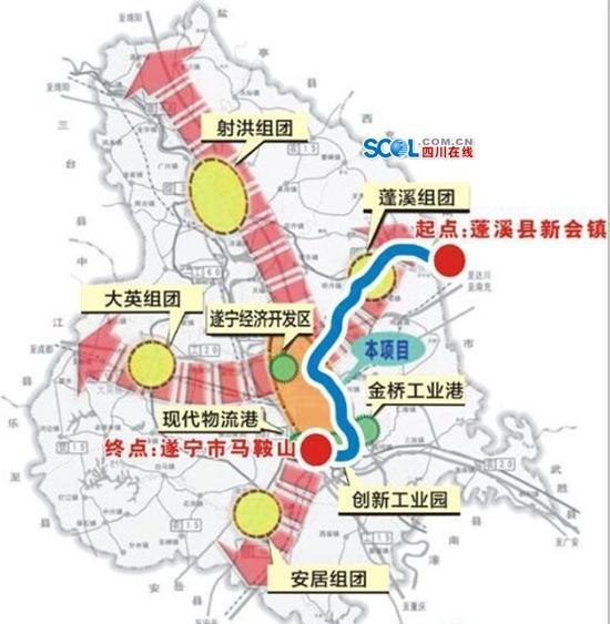 国道318线遂宁至蓬溪段年内改线升级 总投资14.8亿