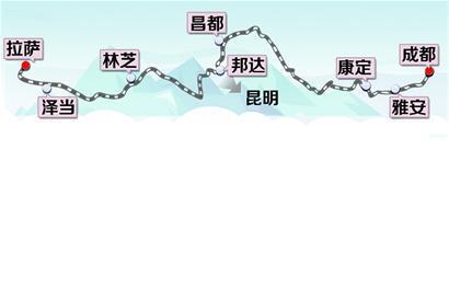 排练五基本走势图-上半年确定全线走向 穿越五大地形区