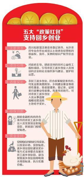 """四川鼓励农民工回乡创业 发放2400余万""""政策红包"""""""