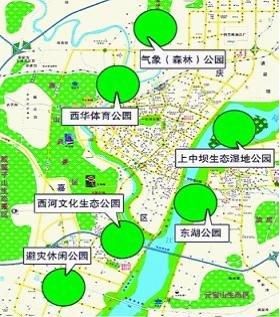 南充城市规划图