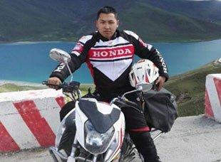 骑车去西藏 送外卖挣路费